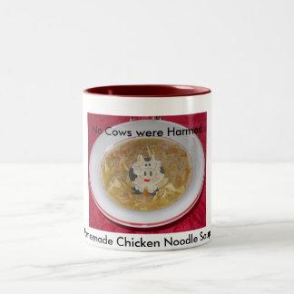 Homemade Chicken Soup - No Cows Were Harmed Two-Tone Coffee Mug