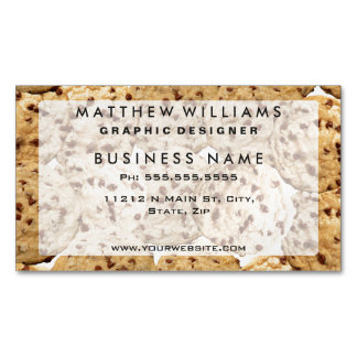 Homemade Chocolate Chip Cookies Business Card Magnet
