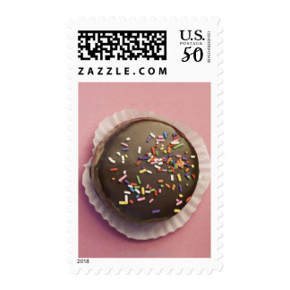 Homemade chocolate dessert with sprinkles postage