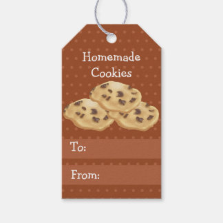 Homemade Cookies wth Pumpkin Spice Background Gift Tags