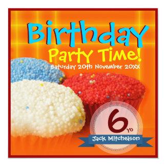 Homemade Cupcakes Birthday Invitations