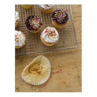 Homemade cupcakes postcard