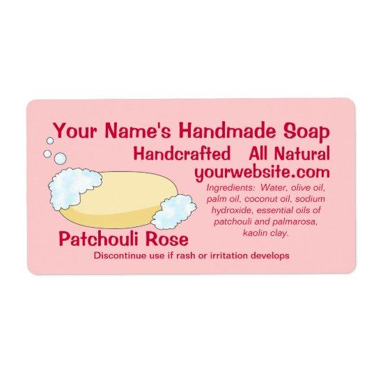 homemade custom soap labels template zazzle com