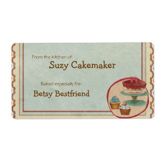 Homemade Dessert Treats Personalized Labels Shipping Labels