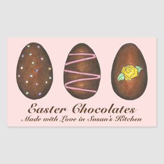 Homemade Easter Chocolates Candy Eggs Stickers