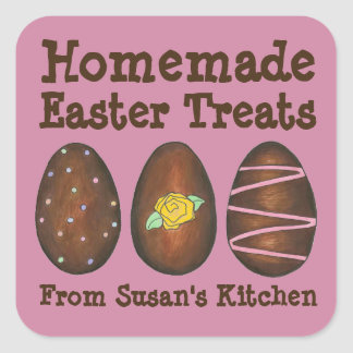 Homemade Easter Treats Chocolate Candy Egg Sticker