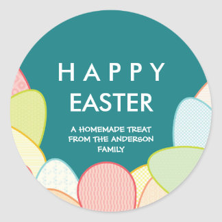 Homemade Easter Treats | Pastel Eggs Classic Round Sticker