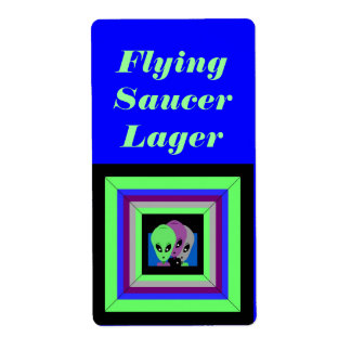 Homemade Flying Saucer Beer Homebrew Brewing Label
