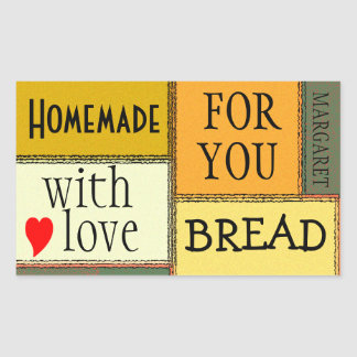 Homemade Food-Personalize It Rectangular Sticker