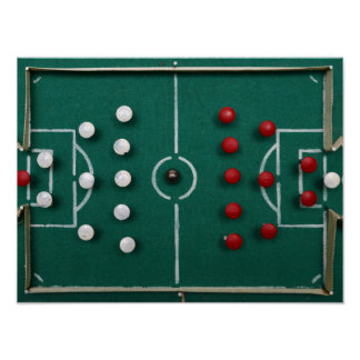 homemade football field vintage sport toy poster