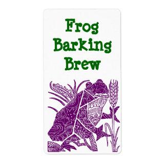 Homemade Frog Barking Homebrew Brewing Labels