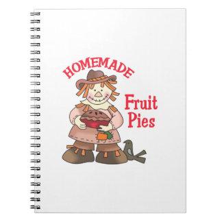 HOMEMADE FRUIT PIES SPIRAL NOTEBOOK