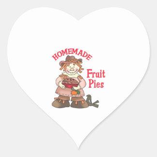 HOMEMADE FRUIT PIES HEART STICKER
