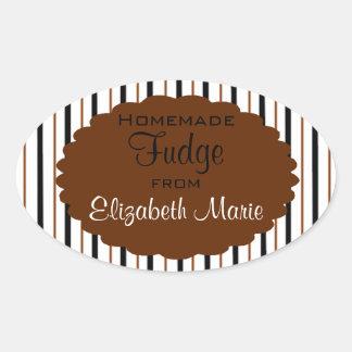 Homemade Fudge Oval Sticker