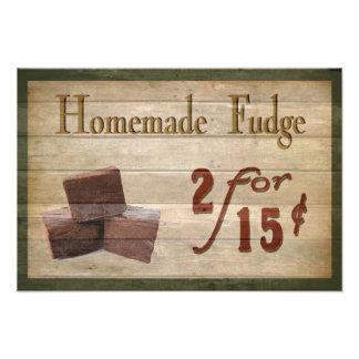 Homemade Fudge Photo Print