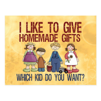 Homemade Gifts Postcards