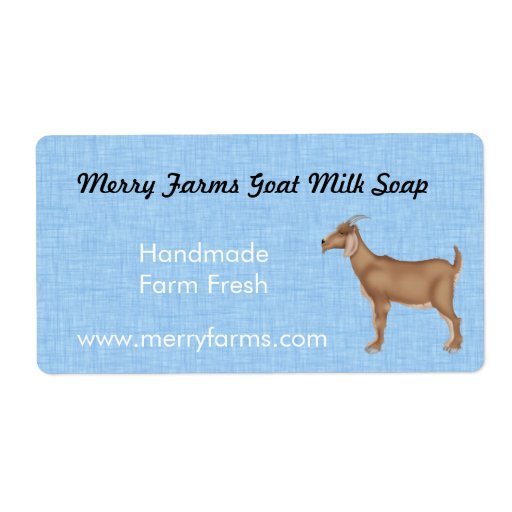 Homemade Goat Milk Soap Labels Shipping Labels