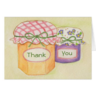 Homemade Goodies thank you card