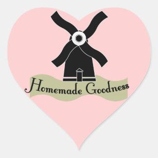 Homemade Goodness Product Heart Sticker