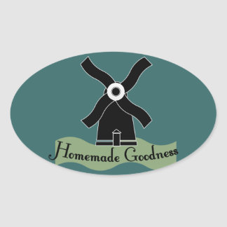 Homemade Goodness Product Oval Sticker