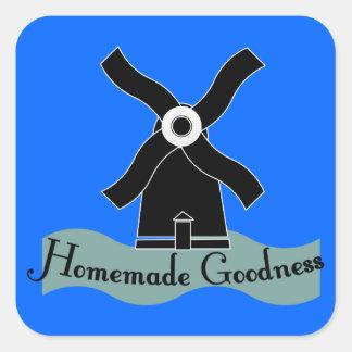 Homemade Goodness Product Square Sticker
