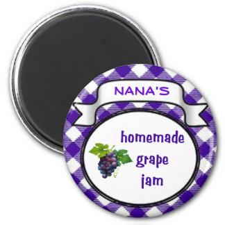 Homemade Grape Jam Magnet