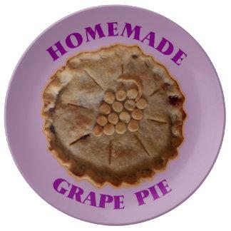 Homemade Grape Pie Dinner Plate