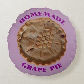 Homemade Grape Pie Round Pillow