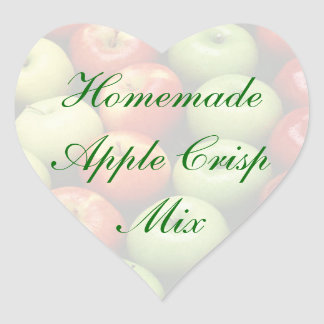 Homemade Green and Re Apple Crisp Mix Cannng Label