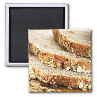 Homemade Healthy Bread 2 Inch Square Magnet