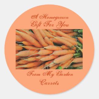 Homemade Homegrown Baby Carrots Label Custom