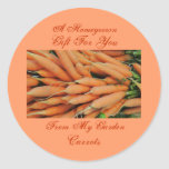Homemade Homegrown Baby Carrots Label Custom Classic Round Sticker