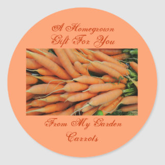 Homemade Homegrown Baby Carrots Label Custom Round Sticker
