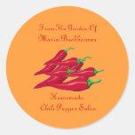 Homemade Homegrown Chili Pepper Salsa Gift Custom Classic Round Sticker