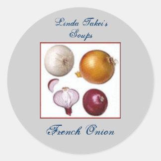 Homemade Homegrown Onion Recipe Gift Label Custom Round Sticker