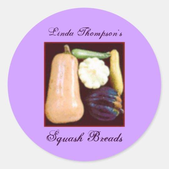 Homemade Homegrown Squash Recipe Gift Label Custom