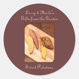 Homemade Homegrown Sweet Potato Recipe Gift Custom Classic Round Sticker