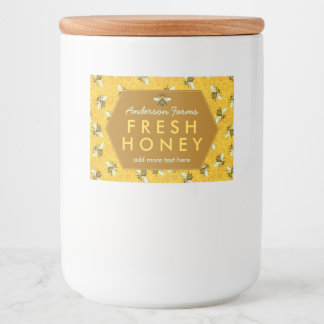Homemade Honey Jar Labels | Bees Honeycomb Custom