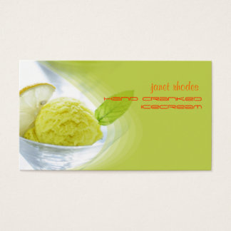 Homemade icecream shop business cards