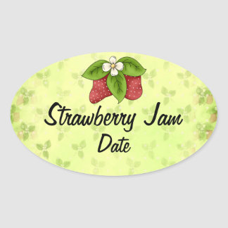 Homemade Jam Lables Oval Sticker