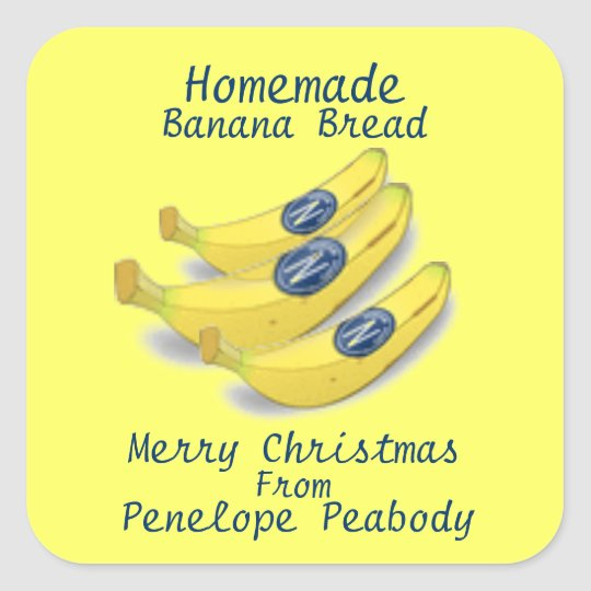 Homemade Label for Banana Bread Customize