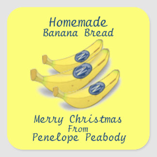 Homemade Label for Banana Bread Customize Stickers
