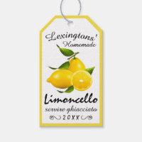 Homemade Limoncello Bottle Hang Tag |