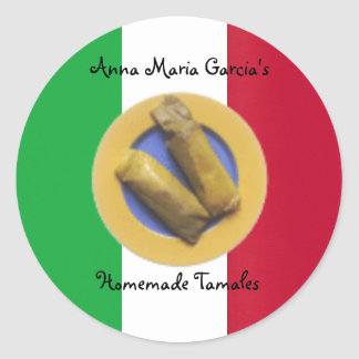 Homemade Mexican Tamales Recipe Label