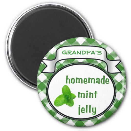 Homemade Mint Jelly 2 Inch Round Magnet