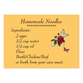 Homemade Noodles Recipe Card