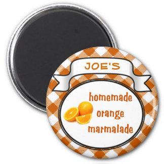 Homemade Orange Marmalade 2 Inch Round Magnet