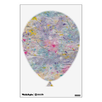 Homemade Paper with Colorful Pulp Accents Balloon Wall Decal