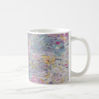 Homemade Paper with Colorful Pulp Accents Coffee Mug