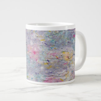 Homemade Paper with Colorful Pulp Accents Large Coffee Mug